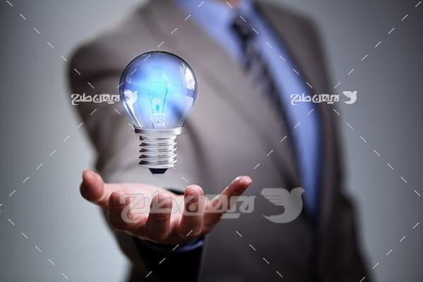 عکس لامپ و ایده