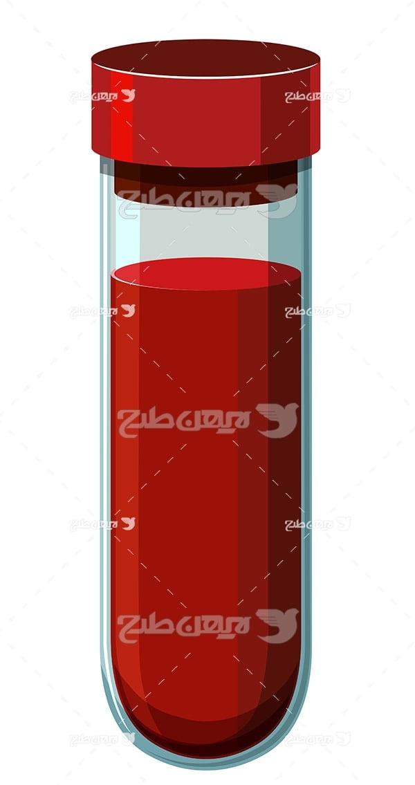 وکتور ظرف خون