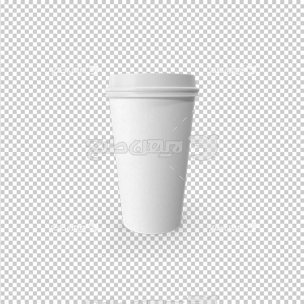 تصویر دوربری سه بعدی لیوان نوشیدنی گرم