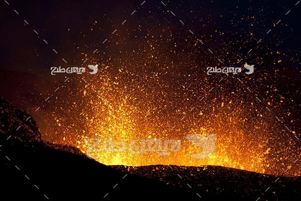 عکس آتشفشان