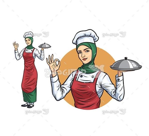 وکتور سرآشپز زن