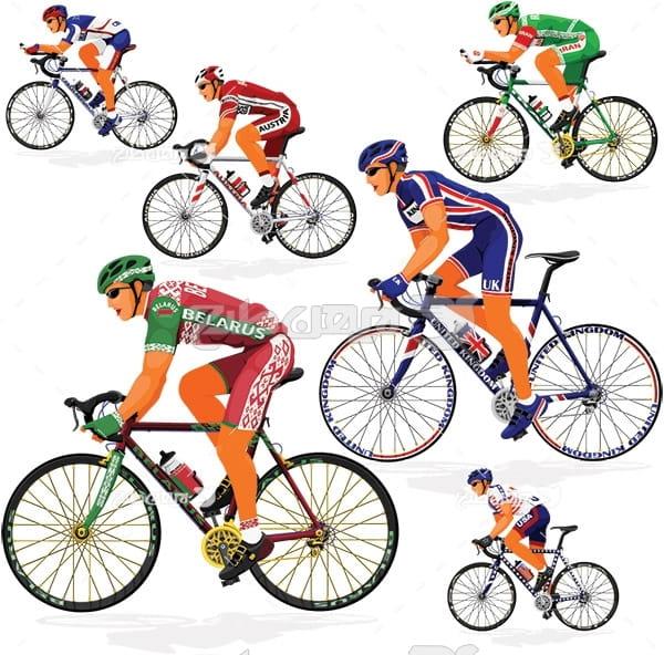 وکتور ورزش دوچرخه سواری