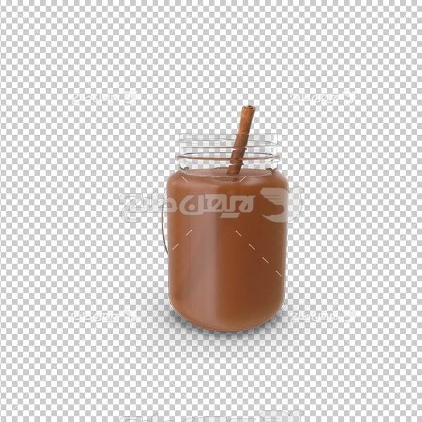 تصویر دوربری سه بعدی نوشیدنی