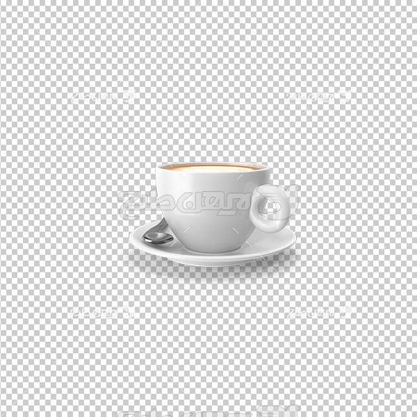 تصویردوربری سه بعدی فنجان قهوه