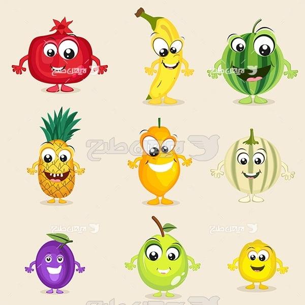وکتور انواع میوه