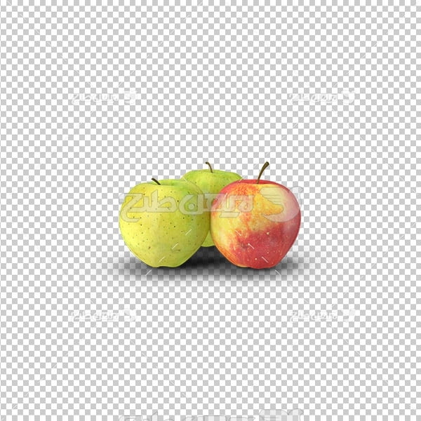 تصویر دوربری سه بعدی سیب