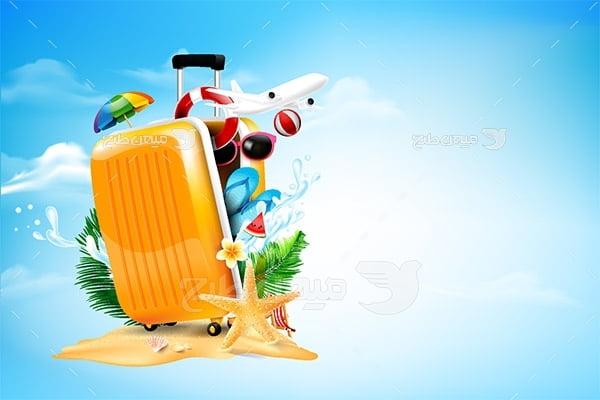 وکتور چمدان مسافرت