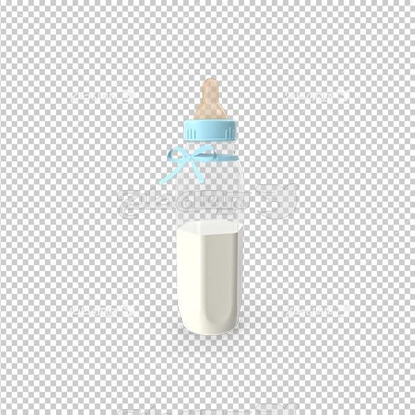 تصویردوربری سه بعدی شیشه شیر نوزاد