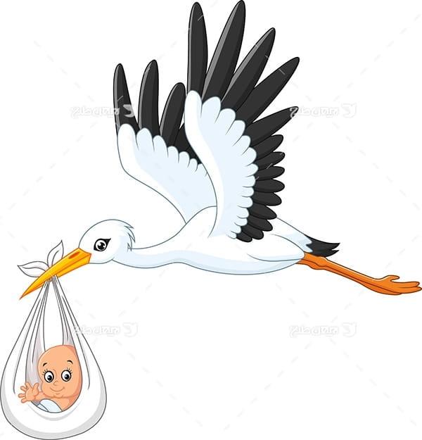 طرح گرافیکی وکتور با پرنده