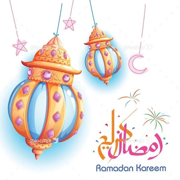طرح وکتور به مناسب ماه رمضان