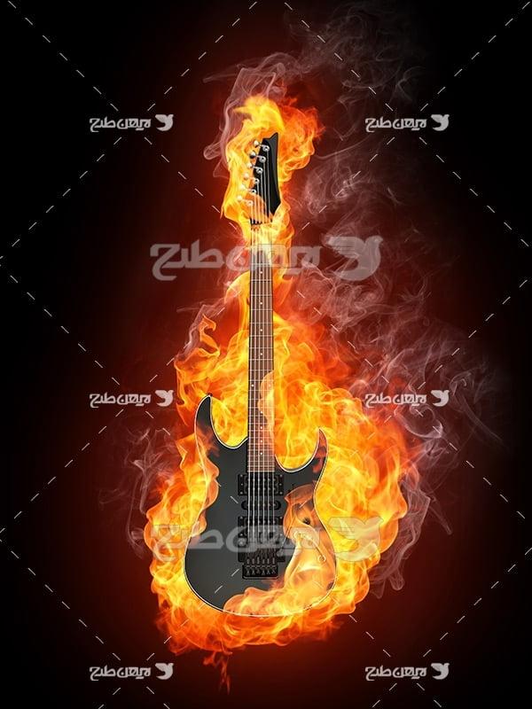 گیتار راک و آتش