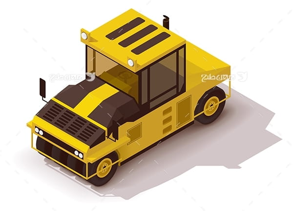 طرح گرافیکی وکتور ماشین صنعتی-خاک برداری