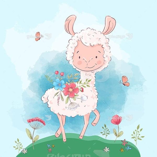 وکتور کارتونی گوسفند