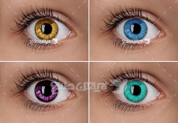 عکس چشم های رنگی