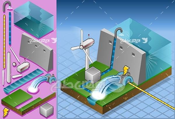 وکتور تولید برق از سد
