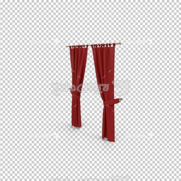 تصویر دوربری سه بعدی پرده قرمز