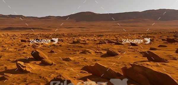 عکس محیط سیارات در فضا