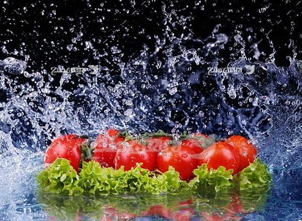 عکس گوجه و سبزی