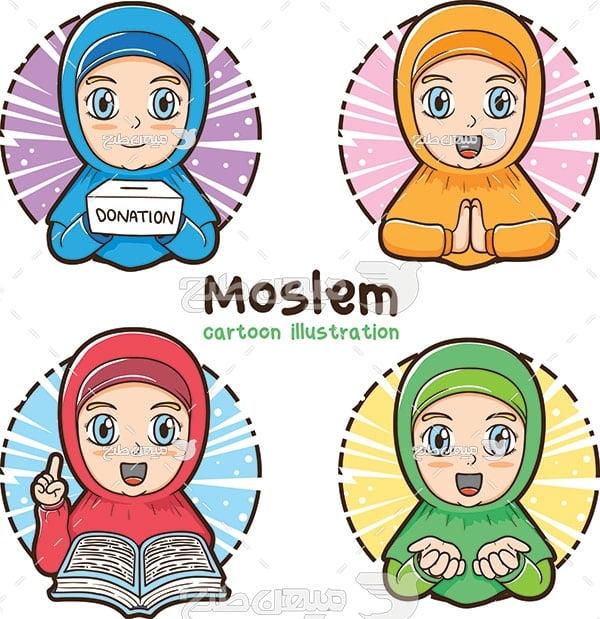 وکتور دختر مسلمان