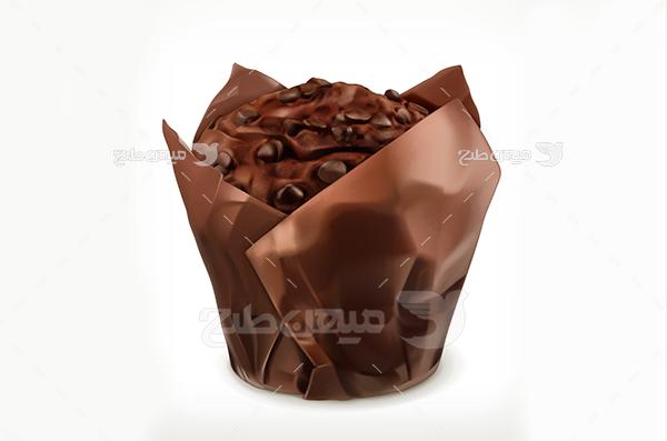 وکتور کیک شکلاتی