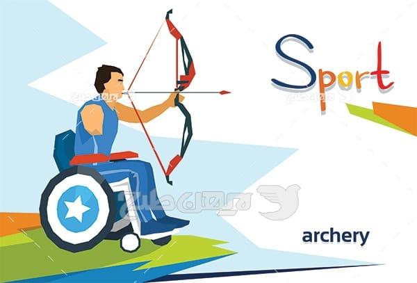وکتور ورزش معلولین