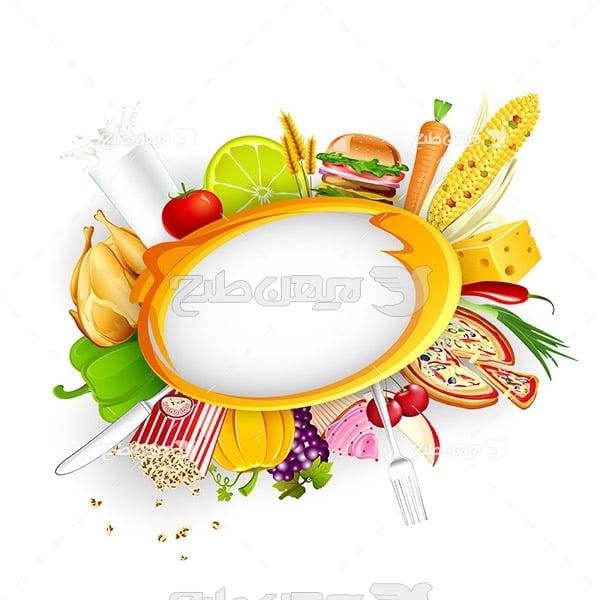 وکتور مواد غذایی