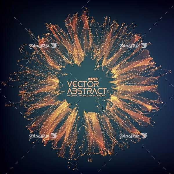 طرح وکتور انفجار نور