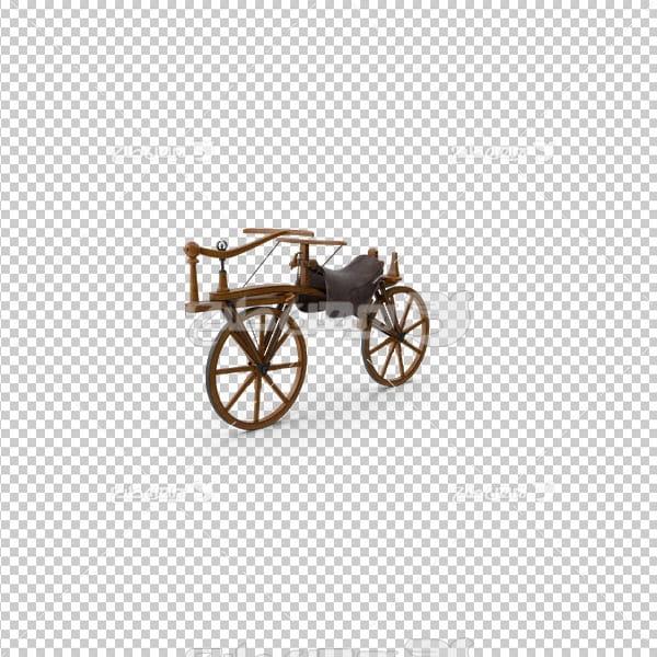 تصویر دور بری سه بعدی دوچرخه قدیمی