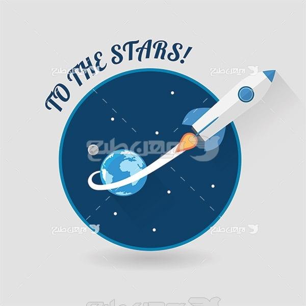 وکتور موشک در فضا