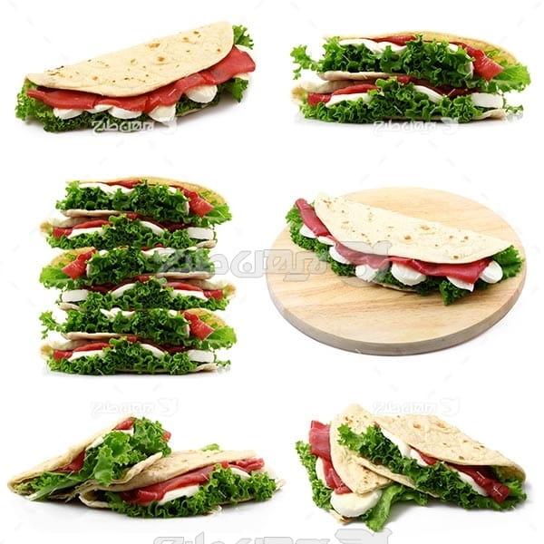 تصویر با کیفیت از ساندویچ تاکو