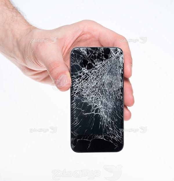 عکس گوشی موبایل شکسته