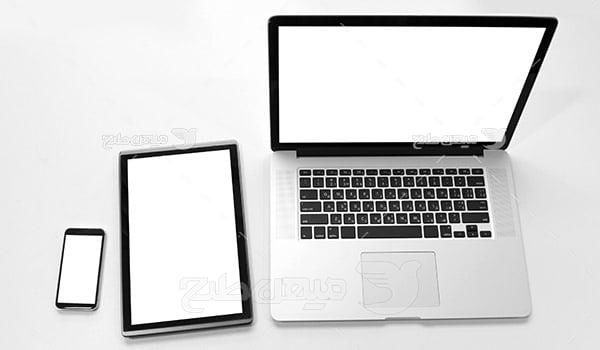 عکس لپ تاپ، موبایل و تبلت