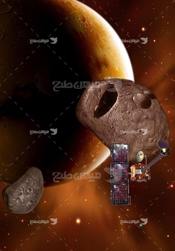عکس سیاره مریخ ، شهاب سنگ و فضاپیما