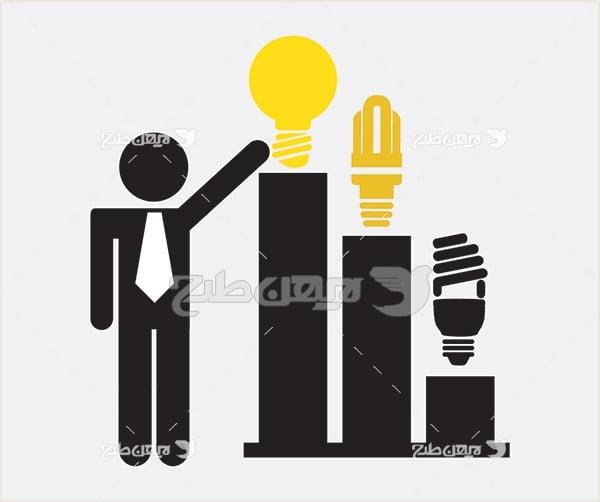 وکتور لامپ کم مصرف