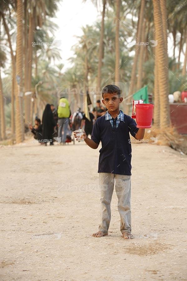 عکس آب صلواتی پیاده روی اربعین حسینی