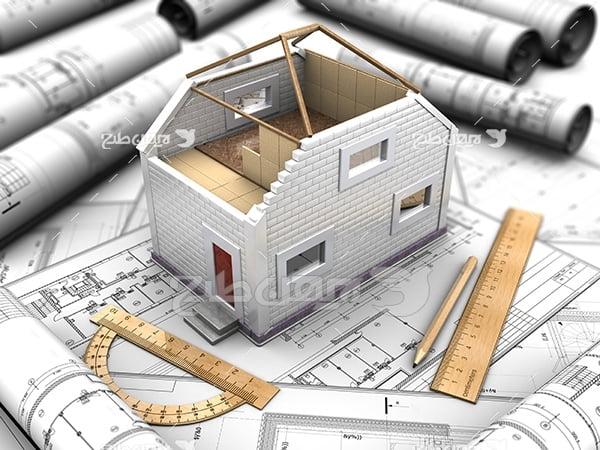 عکس نقشه ساختمان