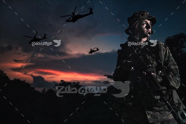 تصویر سرباز جنگی