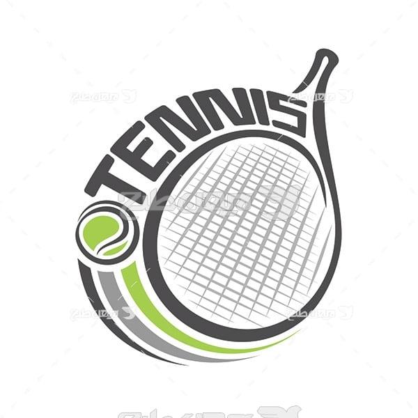 وکتور لوگو و آیکن ورزش تنیس