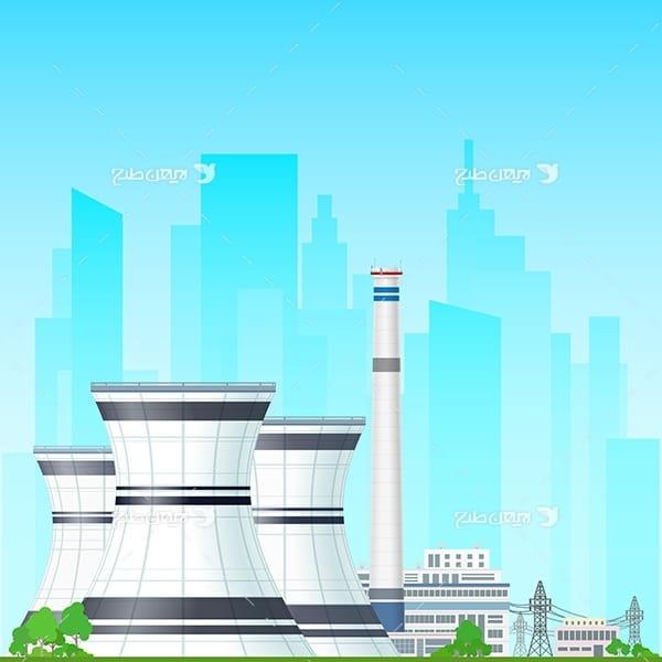 طرح وکتور کارخانه صنعتی