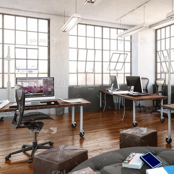 عکس اتاق کار رایانه
