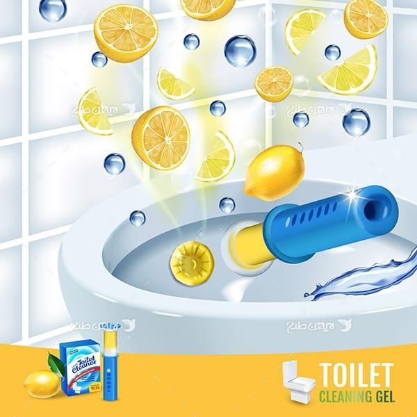 طرح وکتور تبلیغ مایع دستشویی