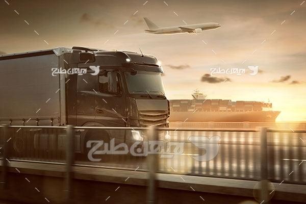 عکس کامیون ، حمل نقل ، کشتی و هواپیما