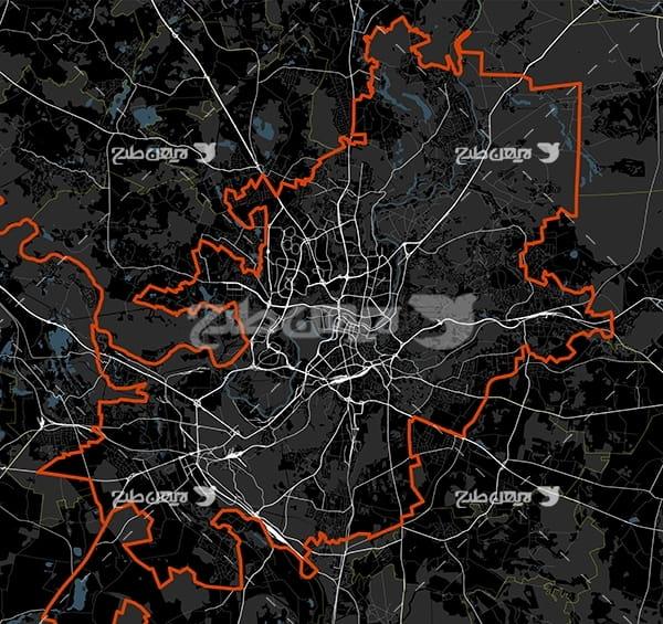 وکتور نقشه شهر