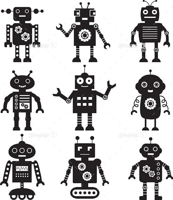 وکتور و کارکتر گرافیکی ربات