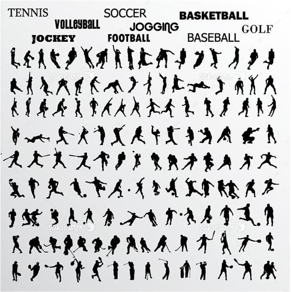 طرح گرافیکی وکتور ورزشی