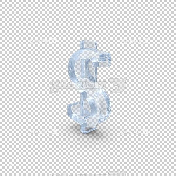 تصویر سه بعدی دوربری علامت دلار