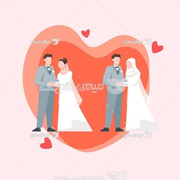 وکتور عروس و داماد