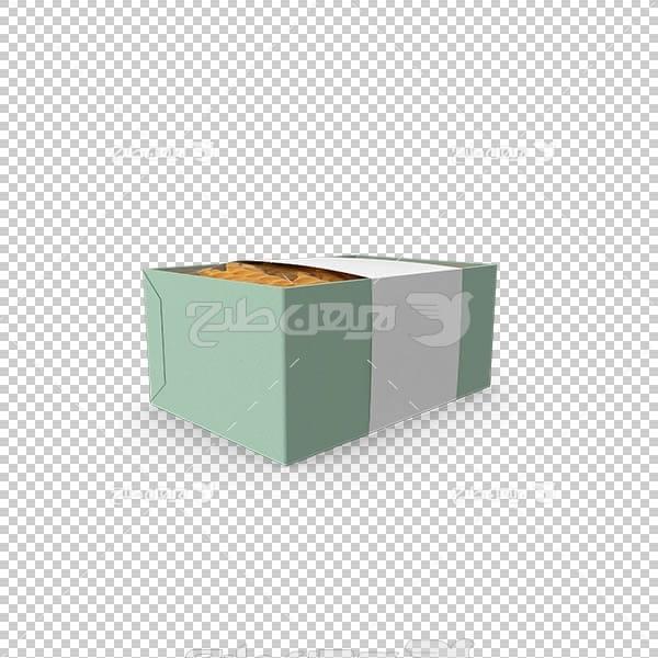 تصویر سه بعدی دوربری جعبه پاستا