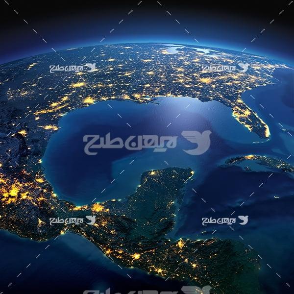 عکس گرفته شده از زمین در فضا