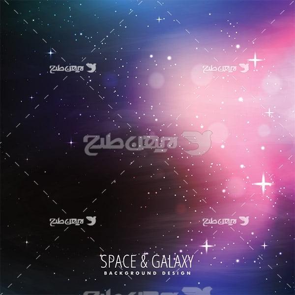 وکتور فضا و ستاره ها